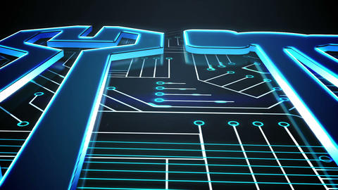 Blue tools on circuit board design Animation