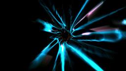 Blue vortex design on black Animation