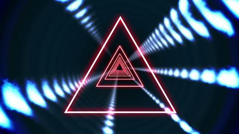 Triangle vortex design on black Animation