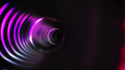 Pink vortex design on black Animation