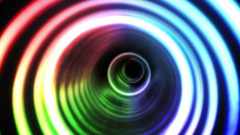 Circle vortex design on black Animation