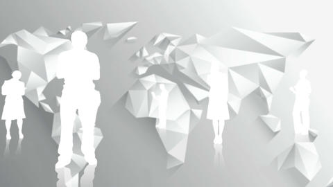 White silhouettes of business people Footage