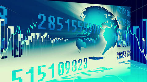 Blue International Finance And Business Concept stock footage