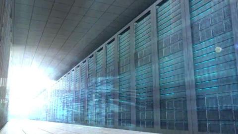 Computing language in server room Footage