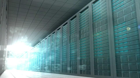 Email Graphics In Server Room stock footage