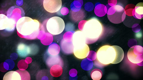 Glowing circles of light moving in purple hues Animation