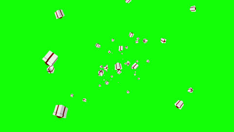 Christmas presents moving on green background Animation