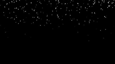 Glittering snow trail of light on night background Animation
