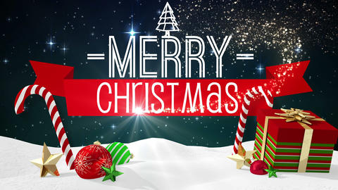 Seamless christmas scene with greeting Animation