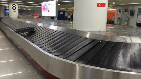 Baggage Conveyor Belt In The Airport , not collect Footage