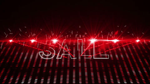 Red Laser Show With Sale Text stock footage