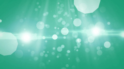 Blue Particles Moving On Green stock footage