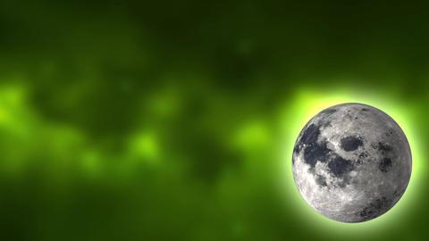 Moon Looping In Corner stock footage