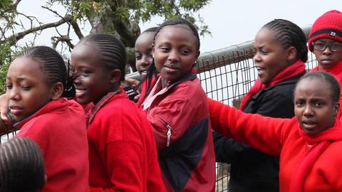 African girl closeup. Kenya Footage