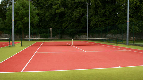 Tennis Court On A Sunny Day stock footage