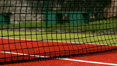 Tennis Balls Hitting The Net stock footage