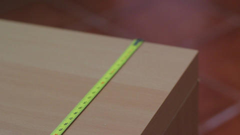 Metal Measure Tape Footage