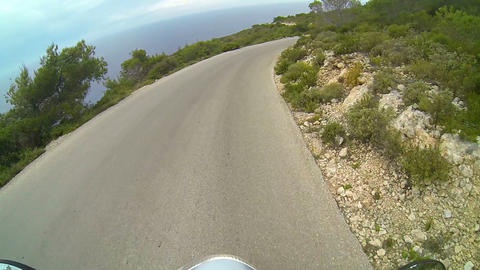 Scooter riding in Greek countryside Footage