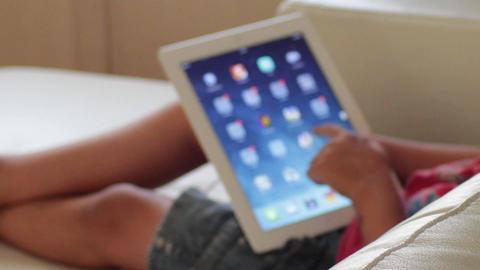 Kid and his iPad Footage