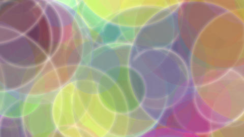 Colorful Circles Burst Fast Animation