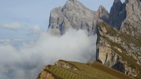 4k UHD tilt seceda to geissler mountain summit 115 Footage