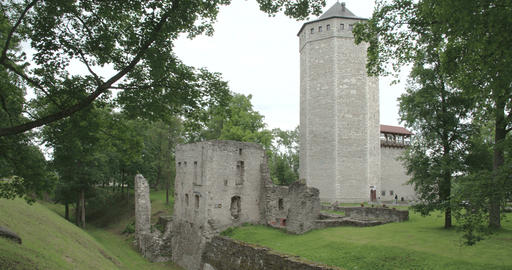 An Old Castle From Paide Estonia FS700 4K RAW Odys stock footage