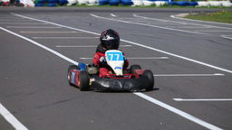 Go-kart sequence with sound Footage