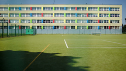 School And Sports Ground Footage