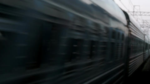 Coming Of Passenger Opposition Train stock footage