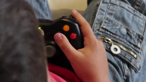 Kid Play Game Console , Close view Live Action