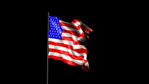 American Flag 2009 Stock Video Footage