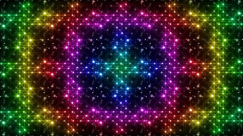 LED Light Kaleidoscope F2Bok2 HD Stock Video Footage