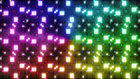 LED Light Kaleidoscope F3Bok5 HD Stock Video Footage