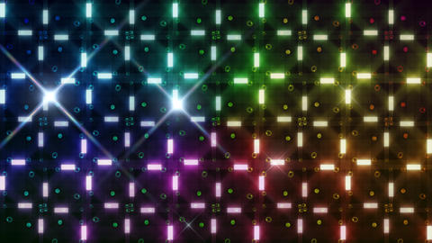 LED Light Kaleidoscope F3Bok5 HD Stock Video Footage
