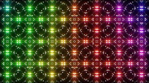 LED Light Kaleidoscope P2BiK1 HD Stock Video Footage