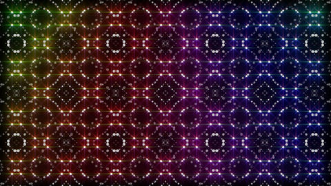 LED Light Kaleidoscope P2BiK1 HD Stock Video Footage