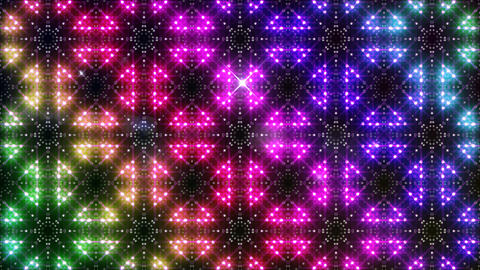LED Light Kaleidoscope P2BiK3 HD Stock Video Footage