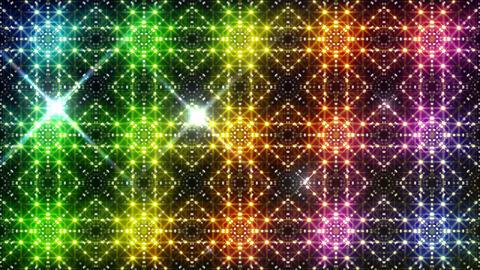 LED Light Kaleidoscope P2BiK3 HD Stock Video Footage