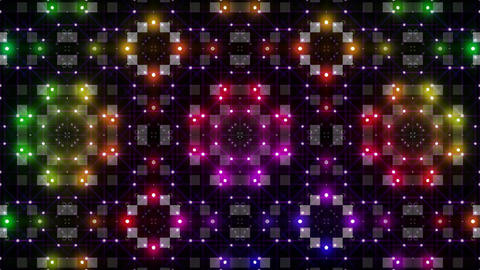 LED Light Kaleidoscope P3BoK2 HD Stock Video Footage