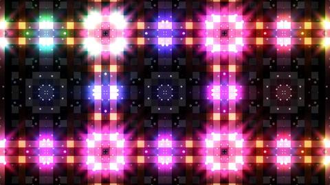LED Light Kaleidoscope P3BoK2 HD Stock Video Footage