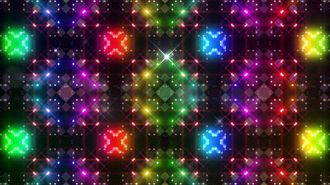 LED Light Kaleidoscope P3BoK3 HD Stock Video Footage