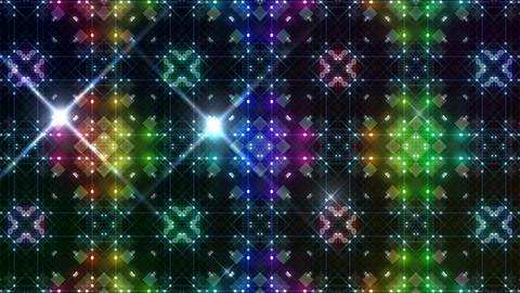 LED Light Kaleidoscope P3BoK3 HD Stock Video Footage