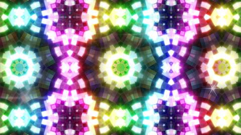 LED Light Kaleidoscope P3BoK7 HD Stock Video Footage