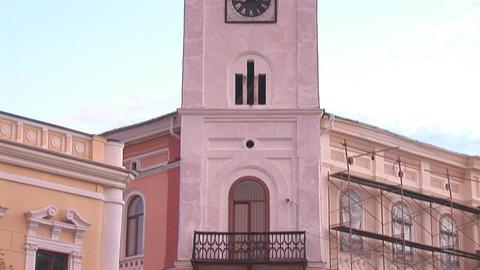 kolomya tower 1 Stock Video Footage