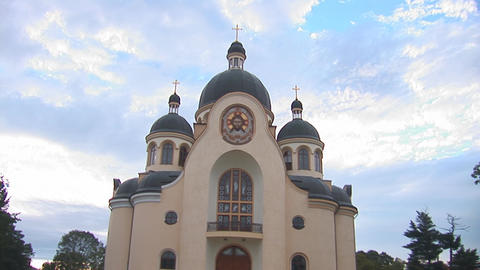 greek catholic church 1 Stock Video Footage