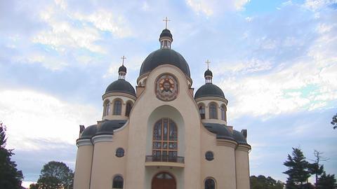 greek catholic church 1 Stock Video Footage