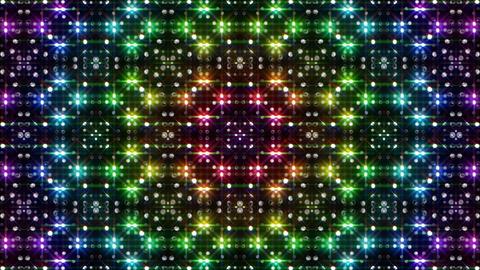 LED Light Kaleidoscope C2BiK1 HD Stock Video Footage