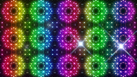 LED Light Kaleidoscope C2BiK3 HD Stock Video Footage