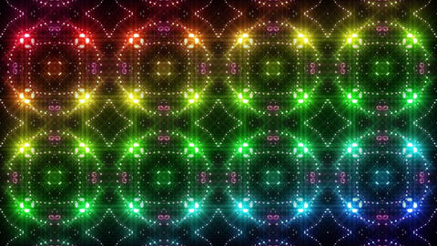 LED Light Kaleidoscope C2BoK3 HD Stock Video Footage