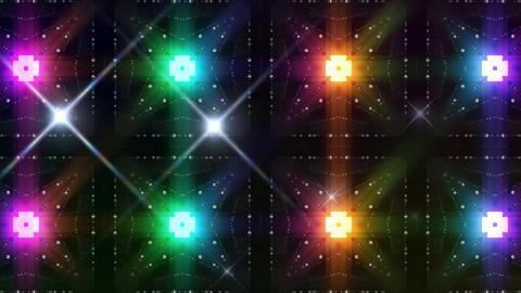 LED Light Kaleidoscope C3BoK2 HD Stock Video Footage